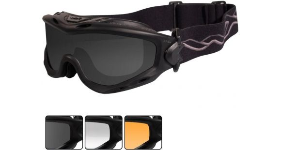 637d56776 Wiley X Spear Goggle - 3 Lens - Smoke Grey,Clear,Light Rust / Matte Black  Frame, SP293B — Lens Color: Smoke Gray, Clear & Light Rust, Frame Color:  Matte ...