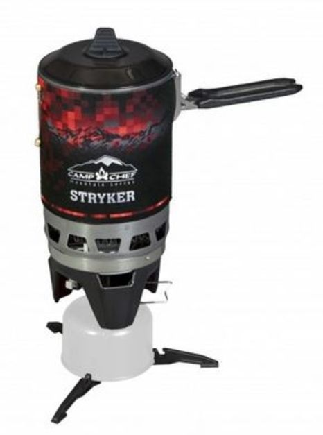 Camp Chef Mountain Series Stryker Isobutane Stove, Green/Black/Re