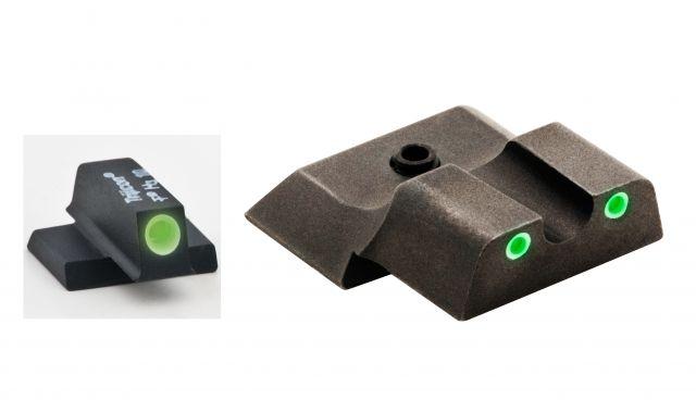 AmeriGlo Tritium Front and Rear Sights MP Shield 3 Dot night Sight set GRN,GRN SW-145