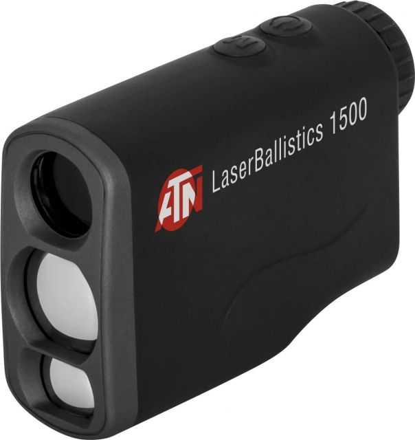 ATN Laser Ballistics 1500 Rangefinder w/ Bluetooth, Ballistic Calculator  and Shooting Solutions App, Black, LBLRF1500B