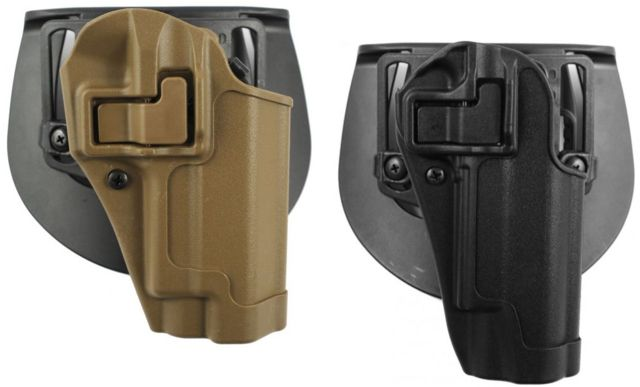 BlackHawk CQC SERPA Holster w/ Belt Loop & Paddle, Right Hand, For Glock 19/23/32, Black