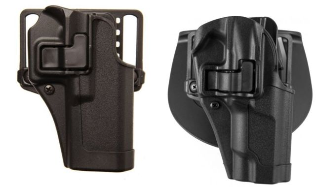 Blackhawk Serpa CQC Concealment Holster with Matte Finish w/Belt Loop and Paddle, Black, Right Hand, 1911 Commander, 410542BK-R 410542BKR