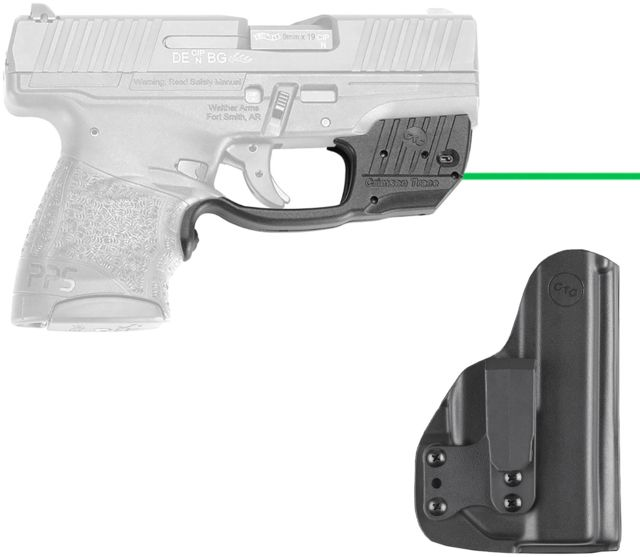 Crimson Trace Green Laser for Walther PPS M2 with BladeTech IWB Holster,  Black LG-482G-HBT
