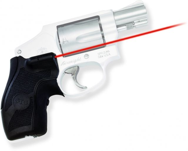Crimson Trace Lasergrip Sight, Black, Smith and Wesson J-Frame Round Butt, LG405
