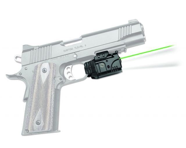 Crimson Trace Rail Master Pro - Universal Rail Mount Laser-LED Combo, Black, Green Laser CMR-204