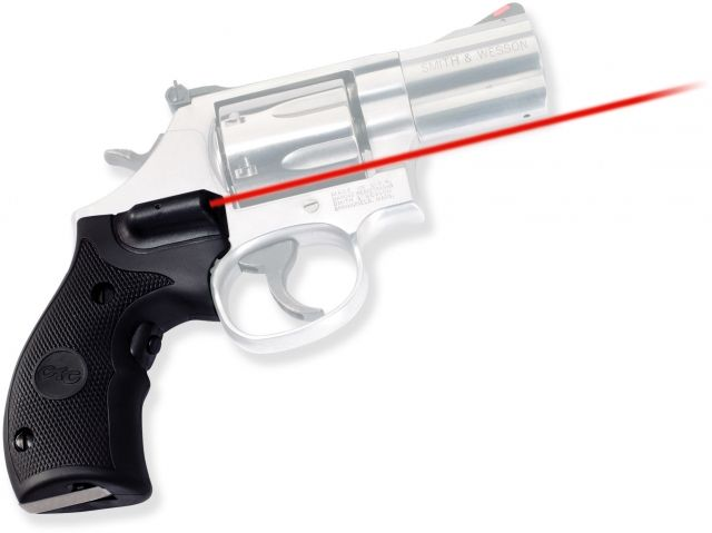 Crimson Trace Rubber Lasergrip - Smith & Wesson K/L Frame, Round Butt, Black LG306