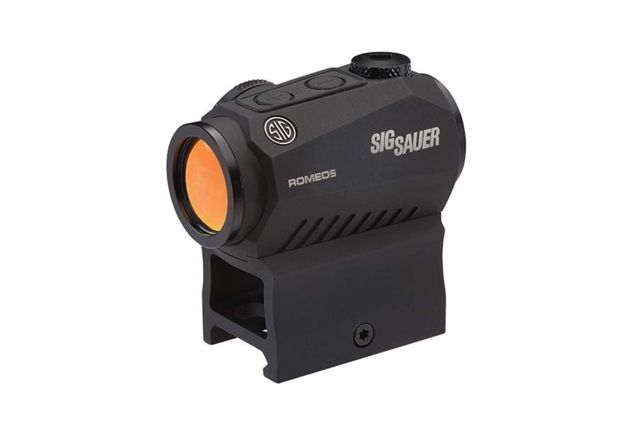 Sig Sauer ROMEO5 Compact Red Dot Sight, 1x20mm, 0.5 MOA, 2 MOA Red Dot, 1 x CR2032 Battery, Picatinny/Co-Witness Mounts, Black, SOR52001