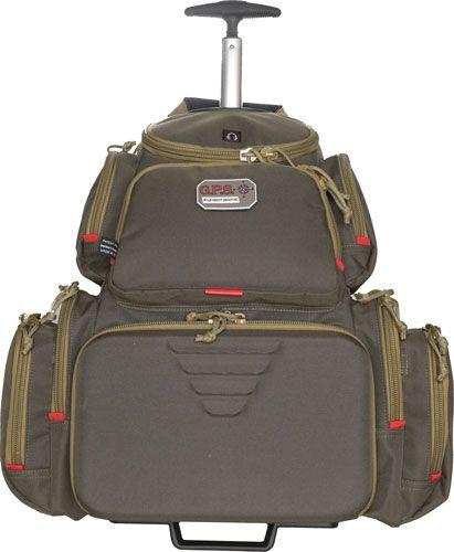 G. Outdoors Products Rolling Handgunner Range Backpack w/4 Handgun Cradle, Rifle Green/Khaki, GPS-1711ROBPRK