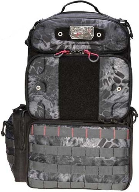 G. Outdoors Products Tall Tactical Range Backpack, Holds 4 handguns-Molded Pocket, Prym1 Blackout, GPS-T1913BPPMB