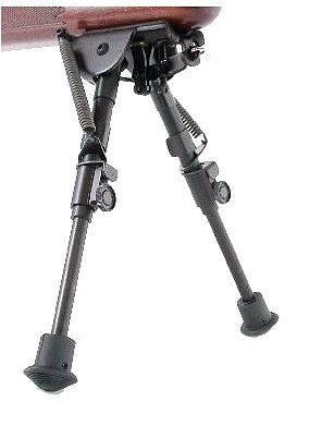Harris Engineering BR Bench Rest, Solid 1A2 Base 6-9in Bipod, Black BR1A2