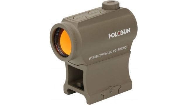 OP Exclusive! Holosun HE403B-GR Elite Green Dot Sight, FDE, HE403B-GR-FDE