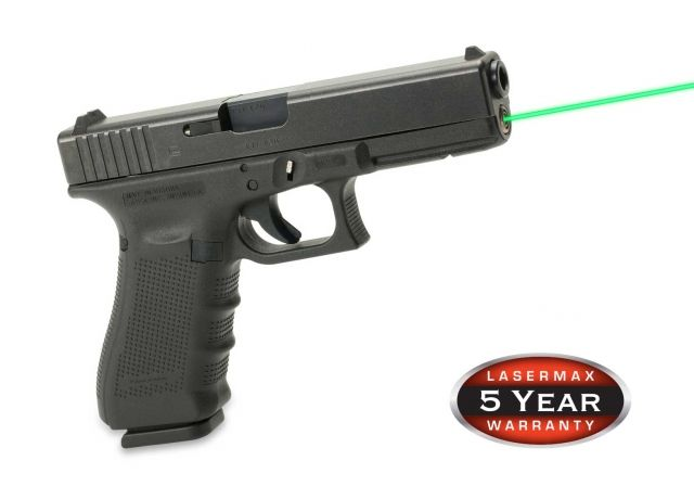LaserMax Guide Rod Red Laser Sight For Glock 19, Generation 4, Green, LMS-G4-19G