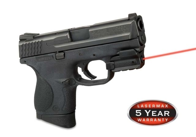 LaserMax SPARTAN Fully Adjustable Rail Mounted 5mW Red Laser Sight, Red, for Compact or Full size Handguns w/ Rails SPS-R
