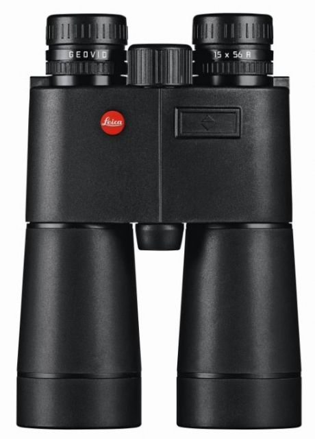 Leica Geovid-R 15x56mm Laser Rangefinder Binoculars, Yards, Rubber, Black, 40432