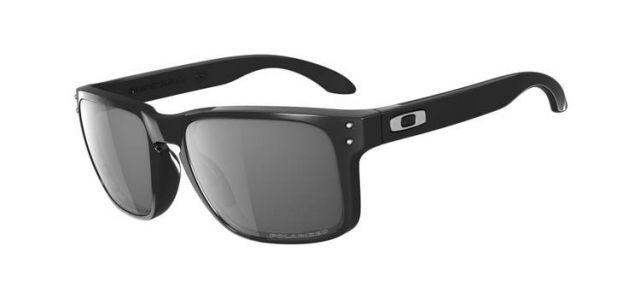 eeee5e4cee Oakley Holbrook Sunglasses - Polished Black Frame w  Grey Polarized Lenses  OO9102-02