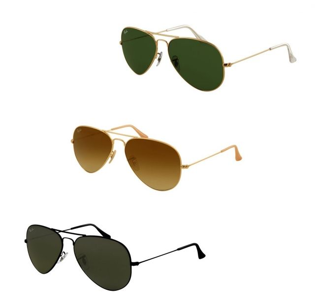8638d25603 053672000481 - Ray-Ban Aviator Large Metal Sunglasses RB3025- Matte ...