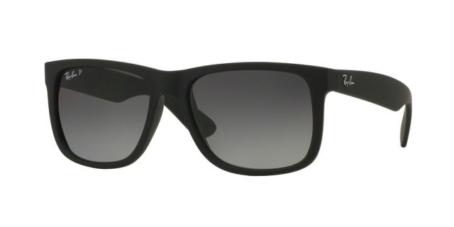 053672495652 - Ray-Ban RB4165 Sunglasses 622/T3-55 - Black Rubber ...