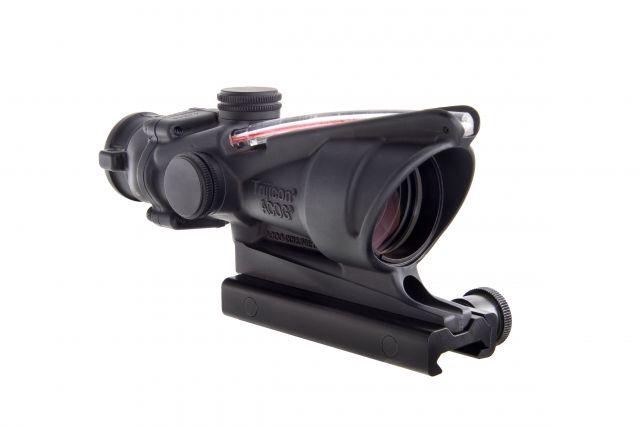 Trijicon ACOG 4x32 Illuminated Riflescope, Red Chevron BAC Reticle, Flattop TA51 Mount