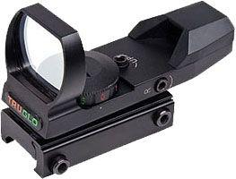 TruGlo Dual-Color Open Red Dot Sight, 5 MOA Reticle, Black, TG8370B