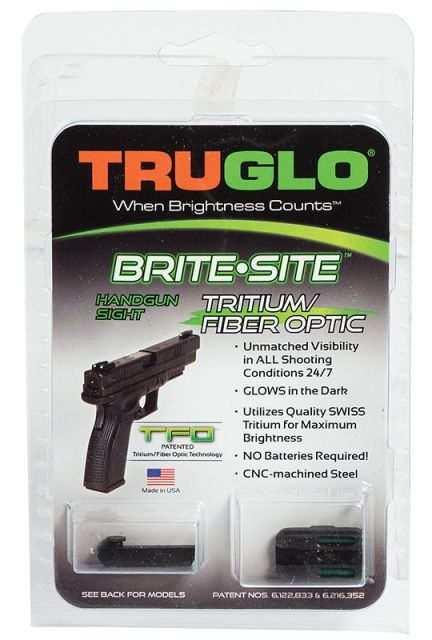 Truglo TG131GT1A Brite-Site TFO Low For Glock 42 Green