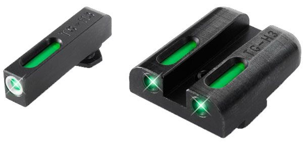 Truglo TFX Glock 42 Green 3 Dot Tritium/Fiber Optic Sight, TG13GL3A
