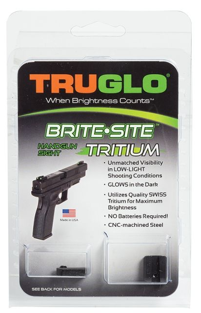 TruGlo Brite-Site Tritium Green Front/Rear Night Sight for Glock 42, TG231G1A