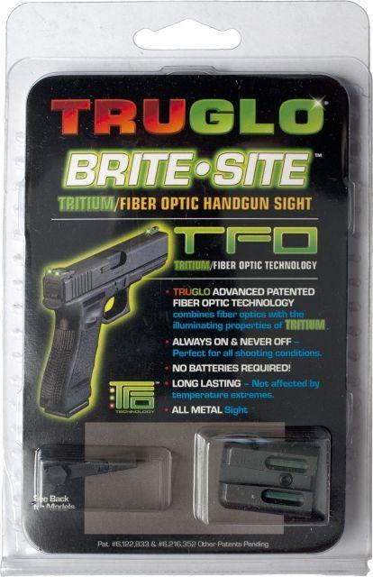 TruGlo Tritium/Fiber Optic Night Sight Set, Green Front/Rear - For Glock 17/19/22 and Similar TG131GT1