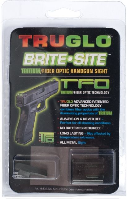 TruGlo Tritium/Fiber Optic Night Sight Set, Green Front/Rear - Kimber TG131KT
