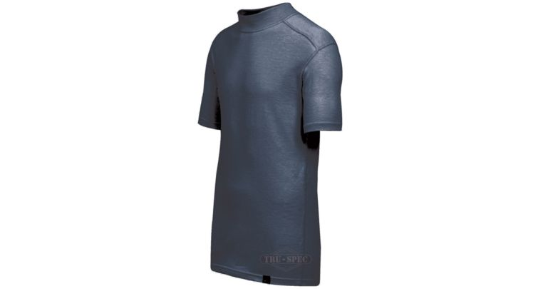 Tru-Spec BaseLayer Mock Neck T Shirt, Short Sleeve, Navy, Extra Large, Regular 2 at Sears.com