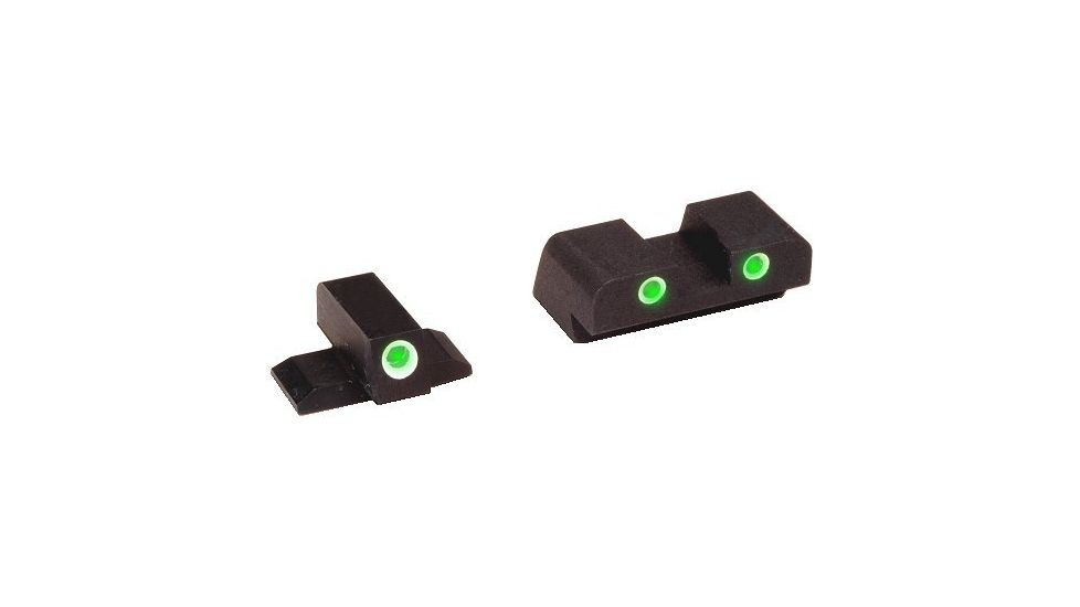 Ameriglo Green Tritium Front/Rear Night Sights For FNP40 FN603