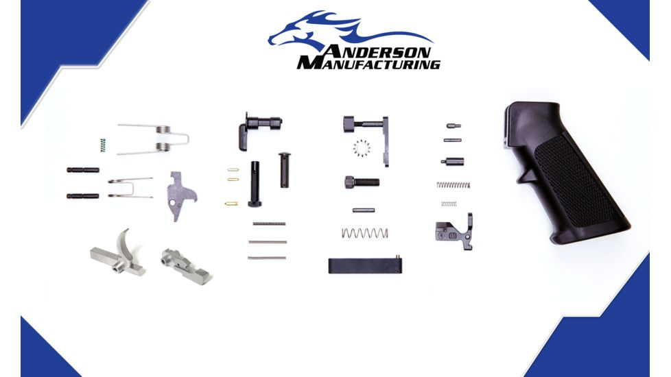Anderson Manufacturing Lower Parts Kit - Stainless Steel Hammer and Trigger - Retail Packaged