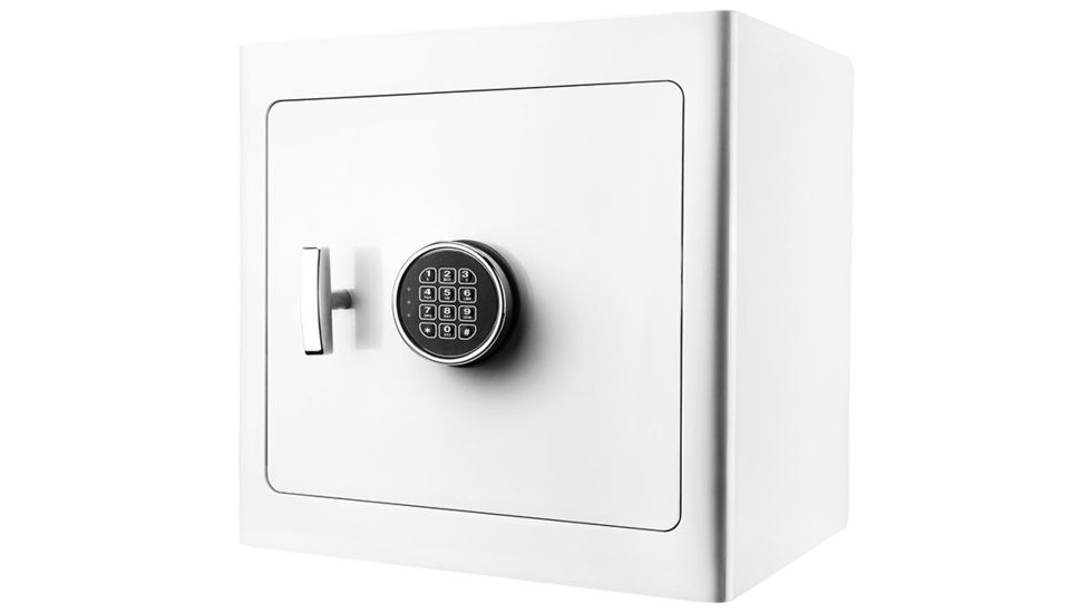 Barska White Keypad Jewelry Safe, Light Interior