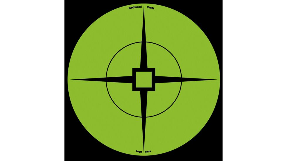Birchwood Casey Target Spots, Green, 6in - Pack of 10