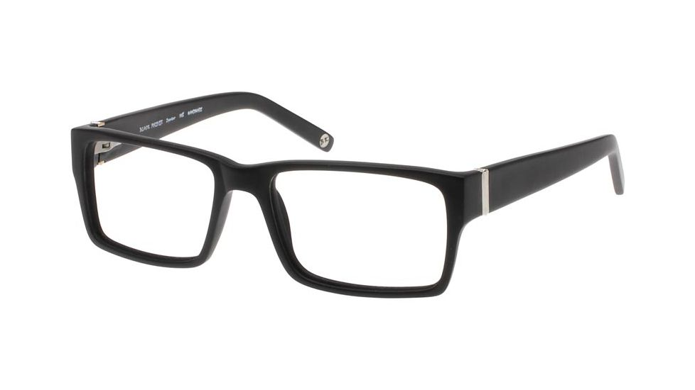 Black Forever 624 Matte Black Glasses Frame w/ Silver Trim