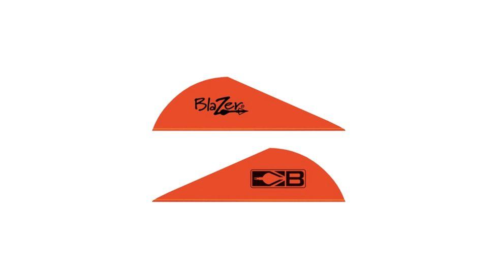 "Bohning Blazer Vanes 2"" Solid Neon Red 36pk"