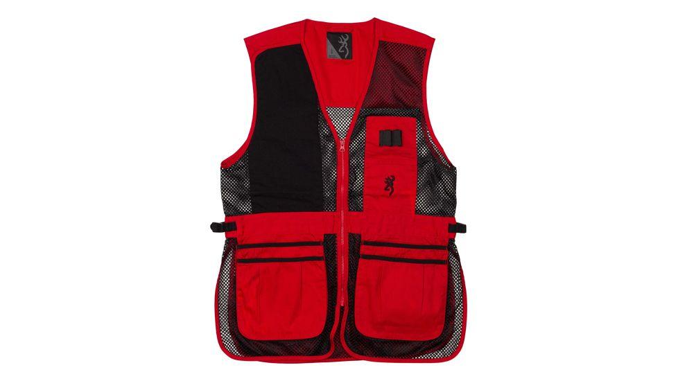 Browning Bg Mesh Shooting Vest R-hand 3x-large Black/red Trim