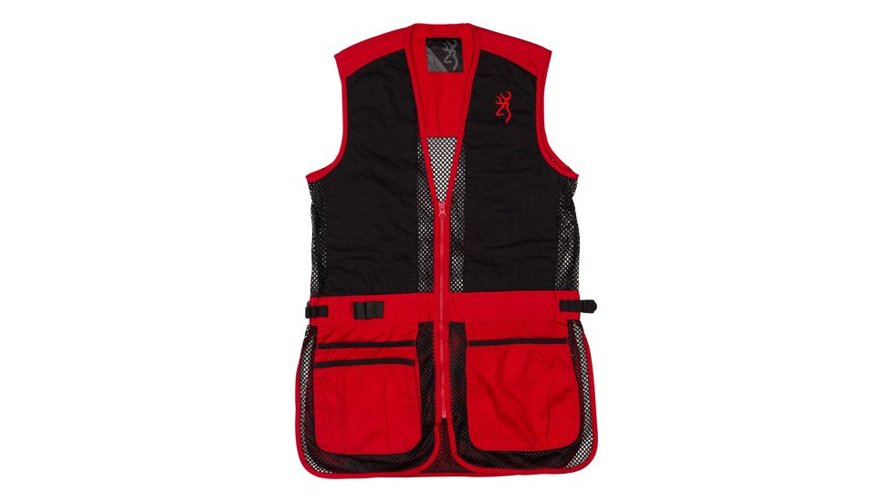 Browning Bg Mesh Shooting Vest R-hand Youth's Small Black/red