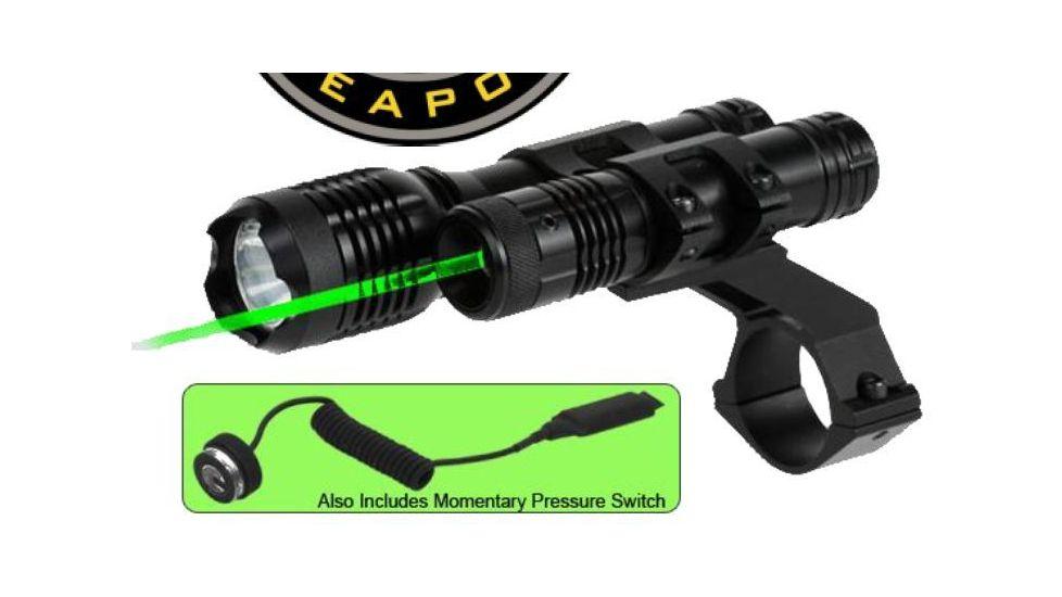 BSA Optics 532nm Tactical Weapon Green Laser Sight w/ 160 Lumen Flashlight