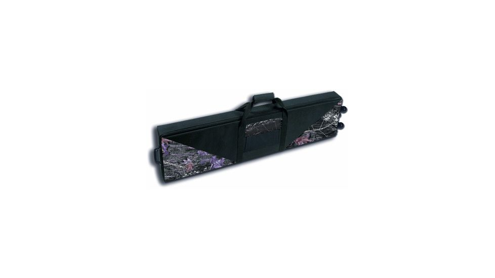 Bulldog Black Nylon Hard Double Gun Case with Wheels BD551