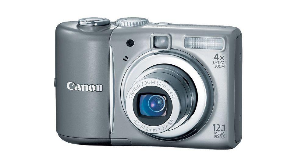 Canon PowerShot A1100 IS 12.1-megapixel Digital Camera Kit Gray 3444B001