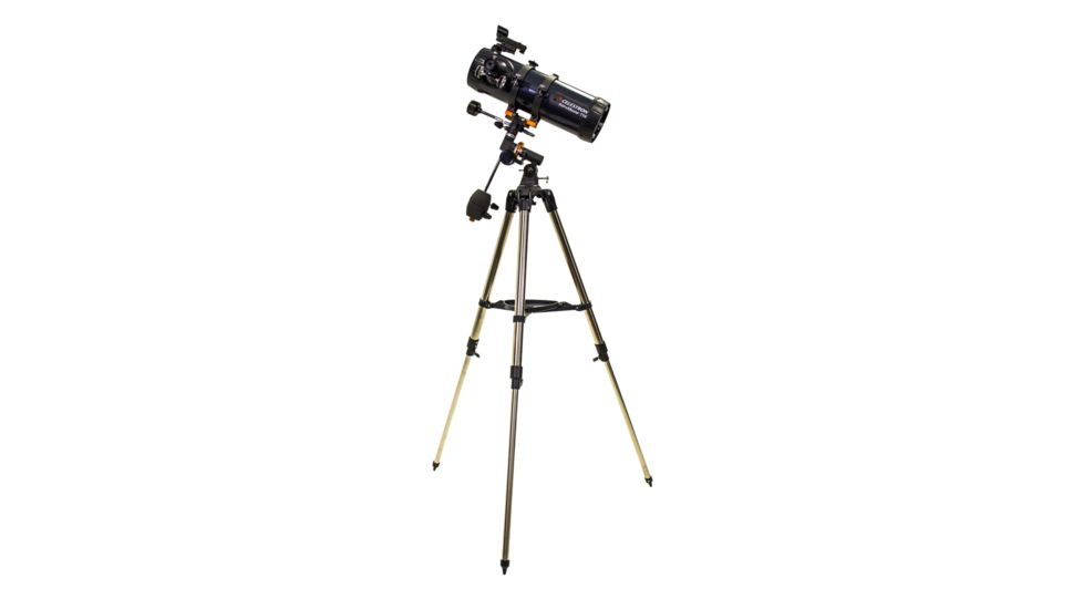 OpticsPlanet Exclusive Celestron AstroMaster 114EQ Telescope w/ Celestron Motor Drive 93514