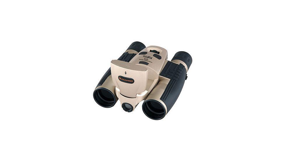 Celestron Vistapix 8x32 Binoculars 3.1 Megapixel Digital Camera with LCD 72214 Champagne
