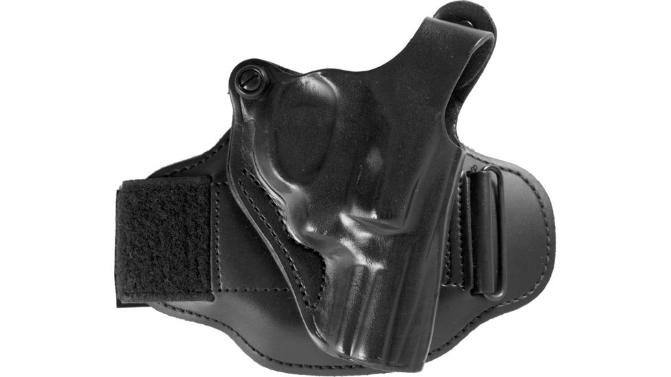 DeSantis Right Hand Black Leather Ankle Holster 044BA02Z0 - S&W J 36, 37, 60, 317, 331, 337, 360, 431PD 2 1/4in., M&P 360 2in.; CH/A UNDERCOVER 2in.