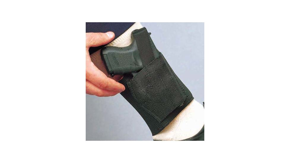 DeSantis Left Hand Black Apache Ankle Rig Holster 062BBSCZ0 - FITS MOST .25 AND .32 AUTOS