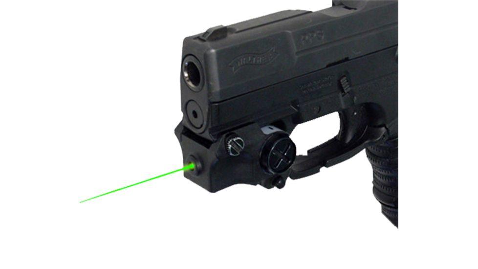 DMA XTS-CGL2 XTS Green Laser Rechargeable Sub-Compact Pistol W/Rail Black XTSCGL2