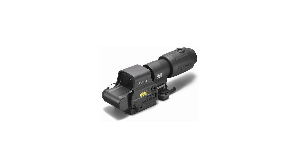 EOTech MPO II EXPS3-4 Holosight with G23 3X Magnifier - 4-Dot Reticle, NV Compatible