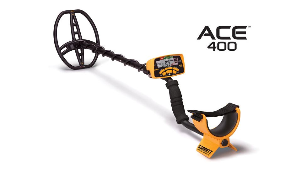 Garrett Ace 400, 8.5x11 in, Black/Yellow, Medium 1141260