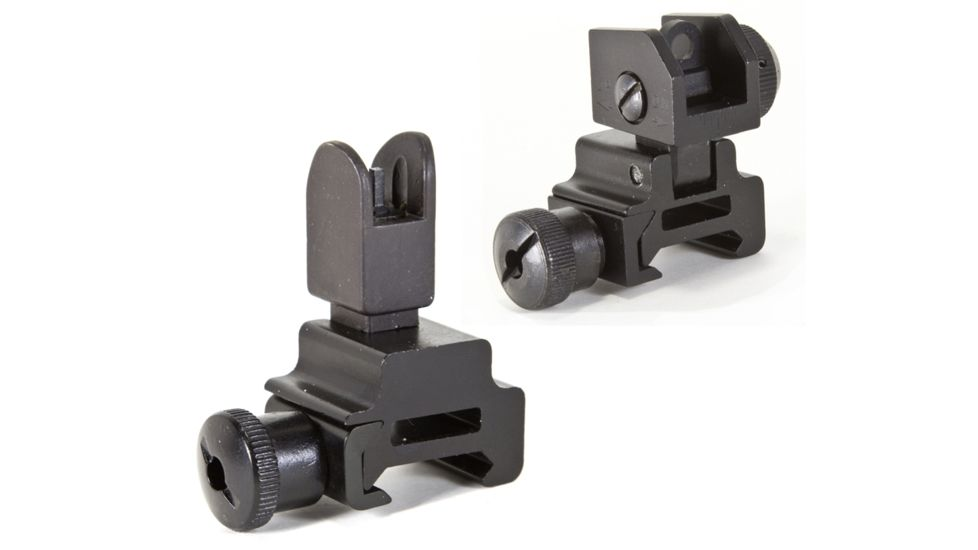 Global Military Gear Front and Rear Flip-up Sight Combo for AR15-M4