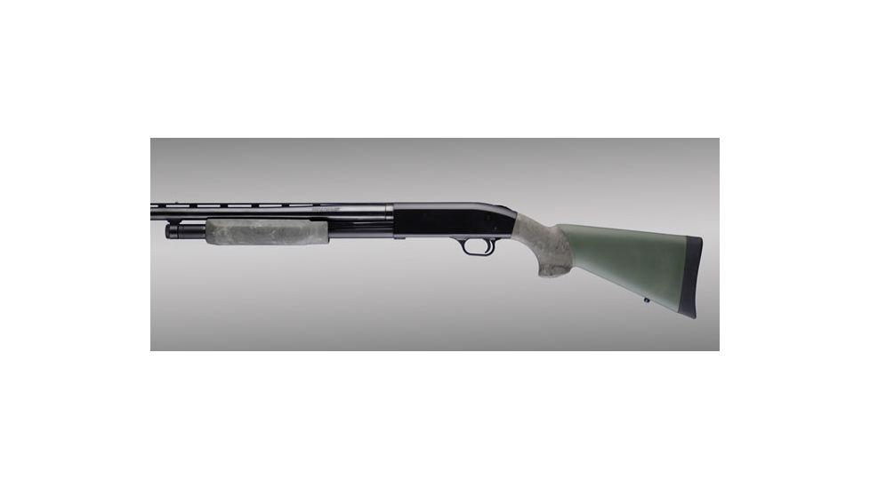 Hogue Mossberg 500 OverMolded Shotgun Stock kit with forend Ghillie Green 05812
