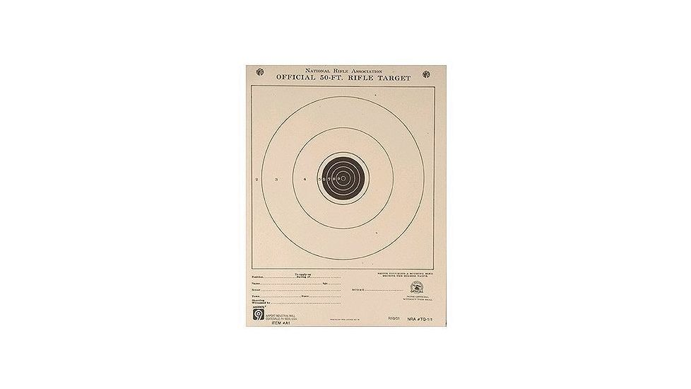 Hoppe's 9 100 yd Small Bore Single Bull 14x14 Paper A14 20 Packs